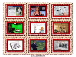 News Media Cards 4 Pages = 36 Cards