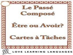 GCSE FRENCH: French Passé Composé with Être and Avoir Task Cards - Version 2