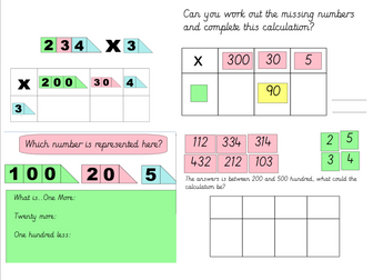 Multiplication: Introduction to the grid method.