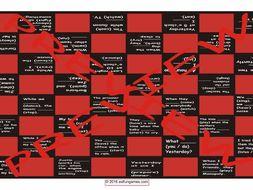 Past Continuous Tense Checker Board Game
