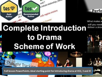 Complete Introduction to Drama. 15 Lesson Scheme of Work.