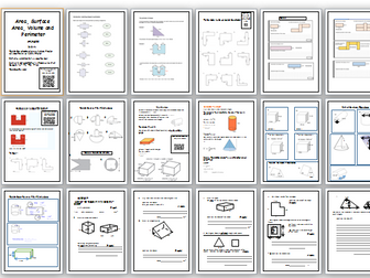 GCSE Area,Perimeter, Surface Area, Compound Shape and Volume Workbook