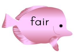 Phonic Fish for Phase 3 ar or ur graphemes