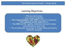 Energy Needs by Loubelle100 - Teaching Resources - Tes