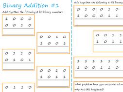 Binary worksheet ks3