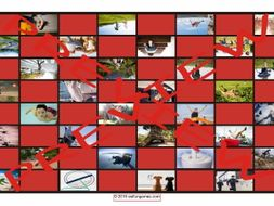 Prepositions of Movement with Photos Checker Board Game