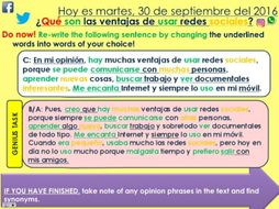 Ks4 Spanish Advantages Disadvantages Of Social Networks