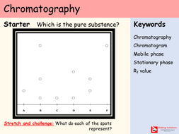 AQA Chapter 8 - Lesson 3 - Chromatography