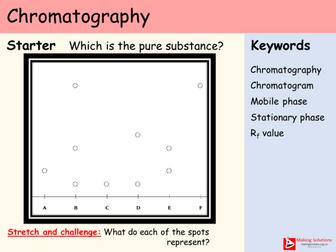AQA Chapter 8 - Lesson 3 - Chromatography