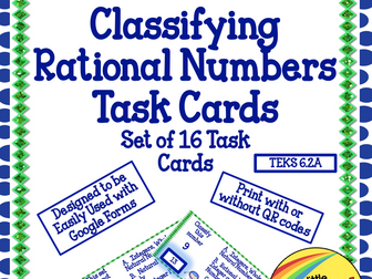 Classify Rational Numbers