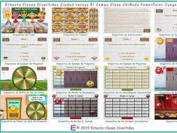 City versus Countryside Kooky Class Spanish PowerPoint Game