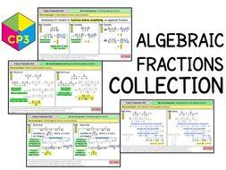 Algebraic fractions COLLECTION (Bundle)