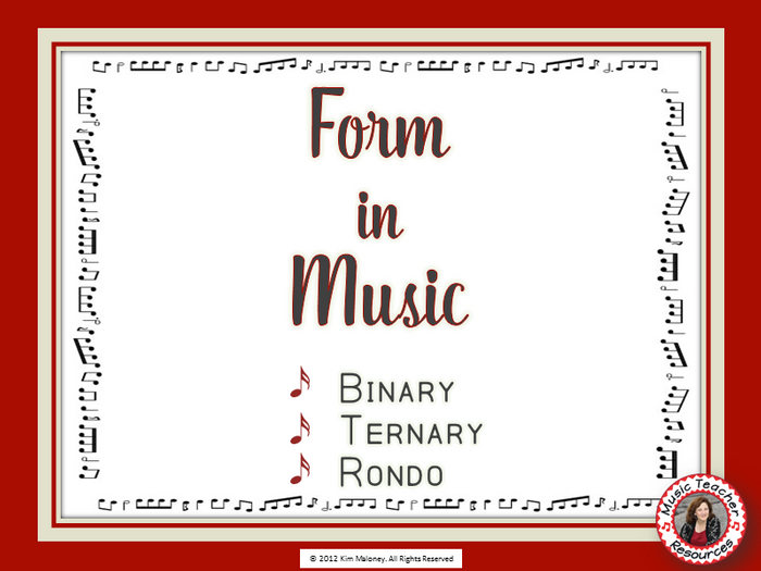 FORM in MUSIC: Binary, Ternary and Rondo by AussieMusicTeacher ...