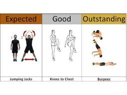 Fitness Exercises Cards