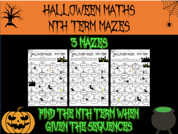 Halloween maths - nth term mazes