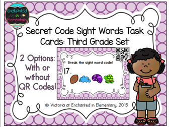 Secret Code Sight Words Task Cards: Third Grade Set
