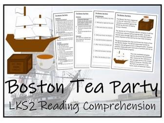 LKS2 History - Boston Tea Party Reading Comprehension Activity