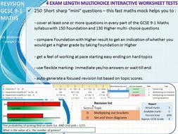 9-1 GCSE Revision – Fast Mock Maths test
