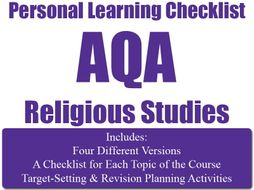 Religion, Human Rights & Social Justice PLC (Personal Learning Checklist ) [AQA GCSE RS]