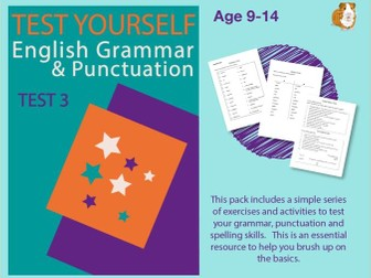 Assessment Test 3 (Improve Your English Work Pack) 9-14 years