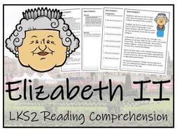 LKS2 Literacy - Queen Elizabeth II Reading Comprehension Activity
