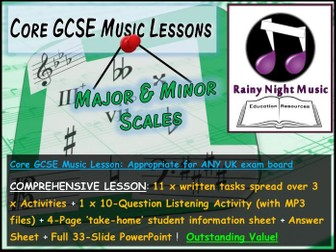 GCSE Music MAJOR and MINOR SCALES