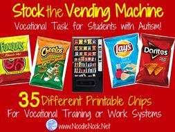 Chips Stocking- A Work Task for Vocational Prep in Autism Units & LIFE Skills