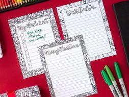 DIY Christmas Stationery - Letters to Santa, Christmas Wishlist & Christmas Letter Templates