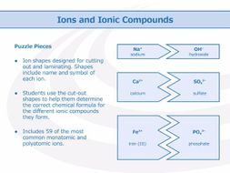 Ions and Ionic Compounds [Puzzle Pieces]