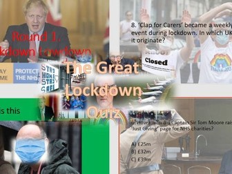 Covid-19 Lockdown Quiz (Ideal for Tutor time)