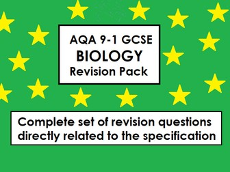 AQA Biology GCSE 9-1 Revision Questions