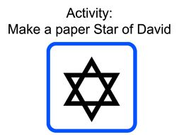 Make a Paper Star of David for Yom Ha'atzmaut (Israeli Independence Day)
