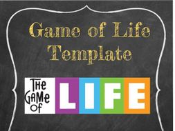 Customizable game of life template by loquaciouslearning teaching customizable game of life template maxwellsz