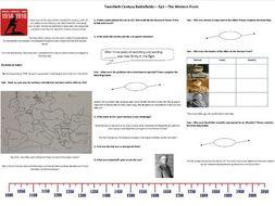 BBC Twentieth Century Battlefields - Ep1 - Western Front - Worksheet to support the BBC Documentary