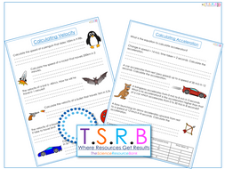 velocity and acceleration questions worksheet by thescienceresourcebank teaching resources tes. Black Bedroom Furniture Sets. Home Design Ideas