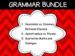 Grammar Rules (3 Resources)