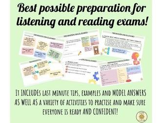 Spanish GCSE Reading and Listening preparation. Last minute tips