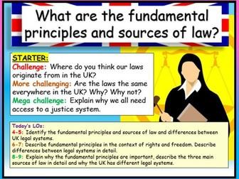 Sources of Law - Edexcel Citizenship