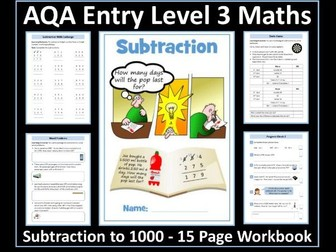 Subtraction: AQA Entry Level 3 Maths