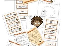 Hedgehog bonfire safety pack
