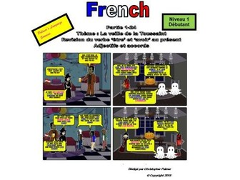 French for Adults: Beginners: Part 24: Halloween, revision of etre, adjectives and agreements