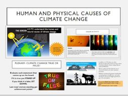 Geography: Human and Physical causes of climate change