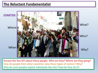 Reluctant Fundamentalist: English Language Paper 1 AQA