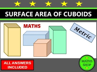 Surface area of cuboids GCSE Revision