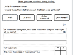 Year 6, Guided Reading, SATs style reading paper, Fiction and Non-fiction,  including answers
