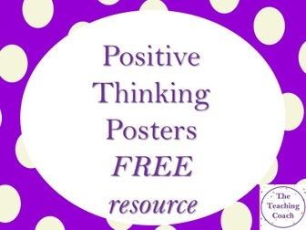Positive Thinking Affirmation Quotes Posters