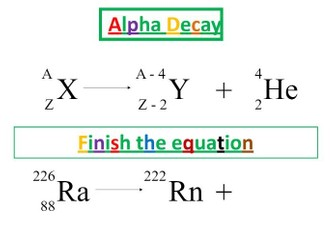 Radioactive Decay - Bumper lesson pack