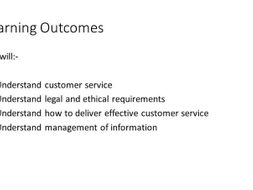 Presentation to use with groups completing the Principles of Customer Service L2 unit