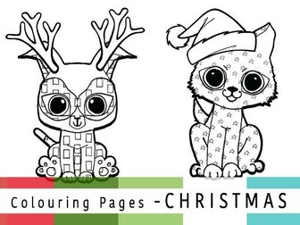 Mindfulness Christmas Colouring Sheets | Pattern Puppies  | ColourmeContent - SET 1 - Just Puppies