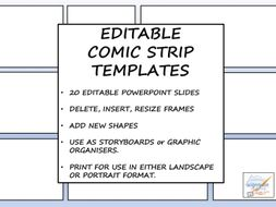 Editable Comic Strip Templates by TicktheArtBox - Teaching Resources ...